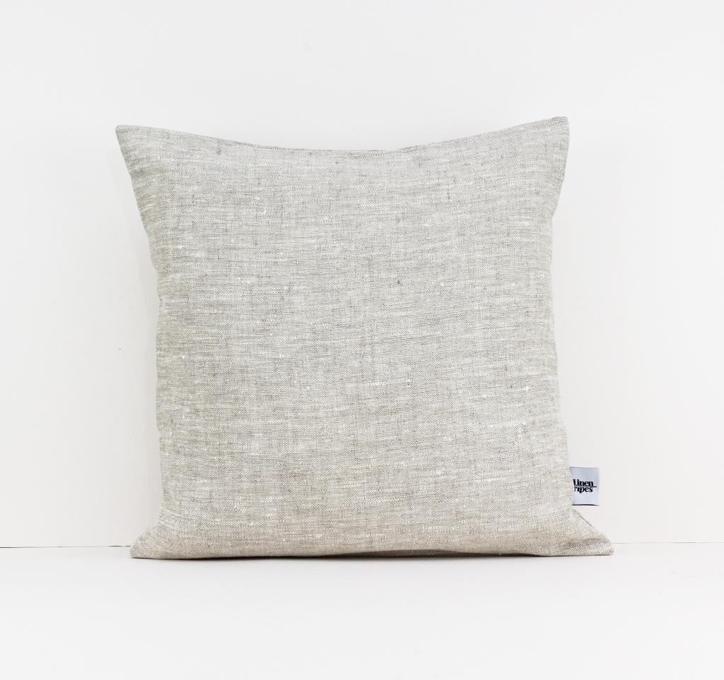 Beige and Dark Grey Linen Pillow Color