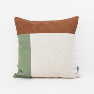 Linen and Stripes leather color retro moss green1