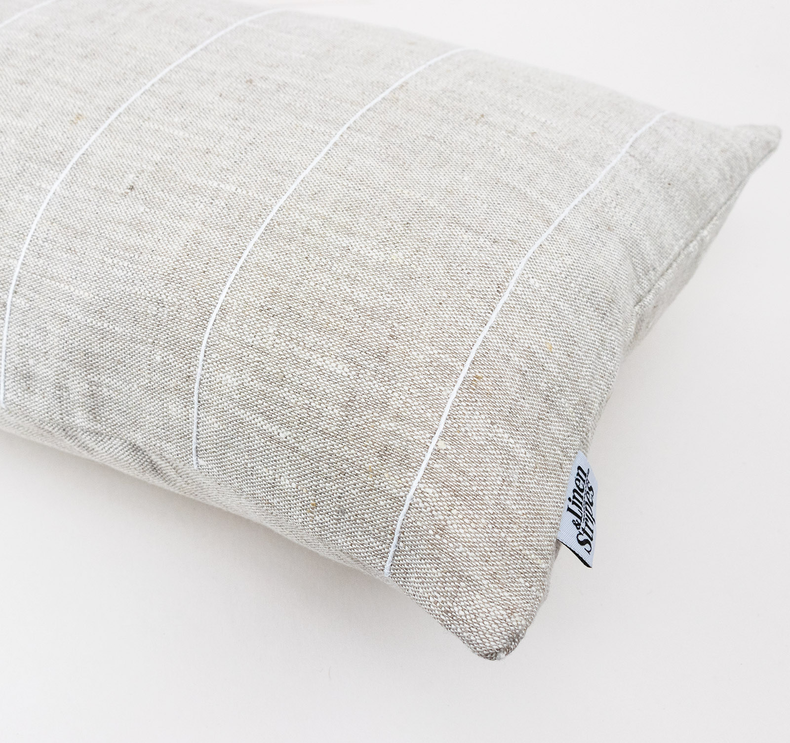 Beige Linen Body Pillow Cover Linen
