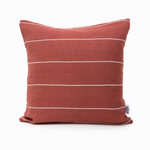Ecofriendly Linen Cushion cover in Rust colour