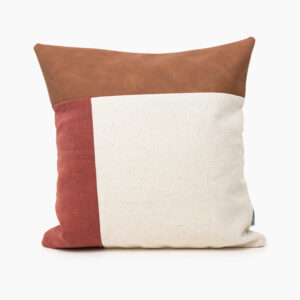Ecofriendly linen cushion cover from linen and stripes