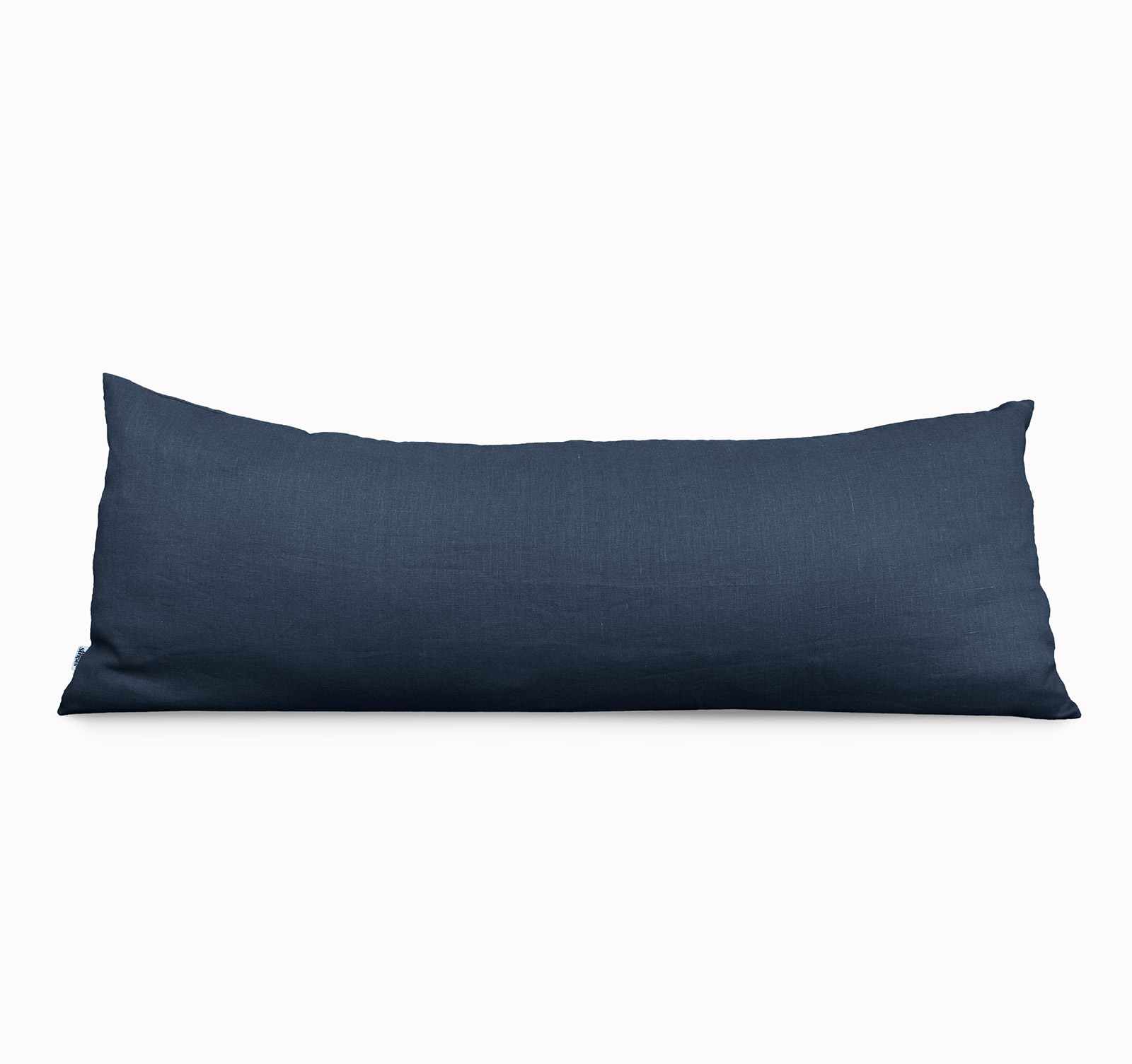 Navy Body Pillow cover Linen and Stripes